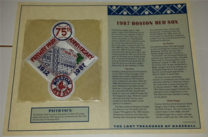 1987 BOSTON RED SOX OFFICIAL 75TH ANNIVERSARY MLB BASEBALL WILLABEE & WARD PATCH