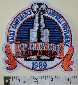 1989 STANLEY CUP FINALS MONTREAL CANADIENS vs CALGARY FLAMES NHL HOCKEY PATCH