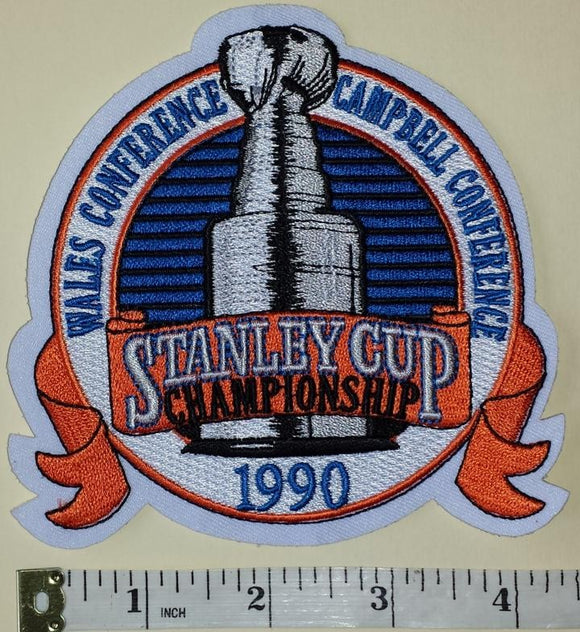 1990 STANLEY CUP FINALS EDMONTON OILERS vs BOSTON BRUINS NHL HOCKEY EMBLEM PATCH
