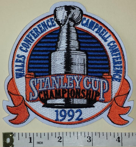 PITTSBURGH PENGUINS 1992 STANLEY CUP CHAMPIONS NHL HOCKEY EMBLEM PATCH