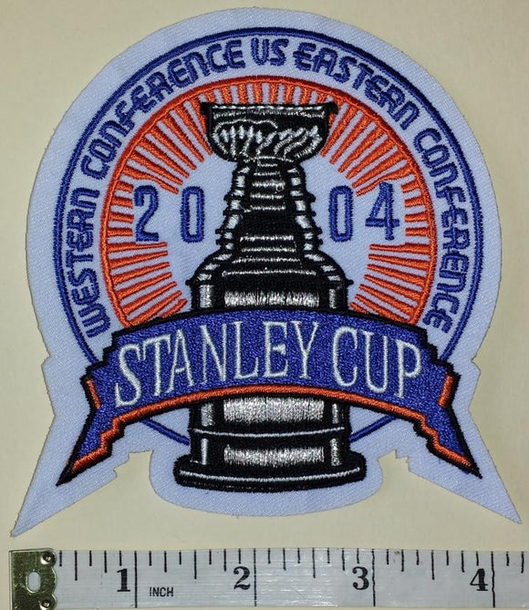 2004 STANLEY CUP FINALS TAMPA BAY LIGHTNING vs CALGARY FLAMES NHL CREST PATCH