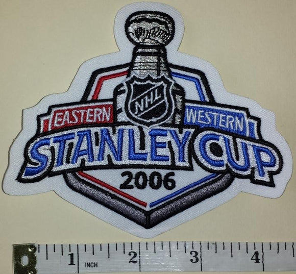 2006 STANLEY CUP FINALS CAROLINA HURRICANES vs EDMONTON OILERS NHL CREST PATCH