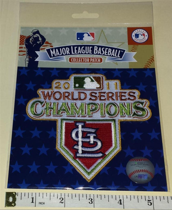 OFFICIAL 2011 ST. LOUIS CARDINALS WORLD SERIES CHAMPIONS MLB BASEBALL PATCH MIP