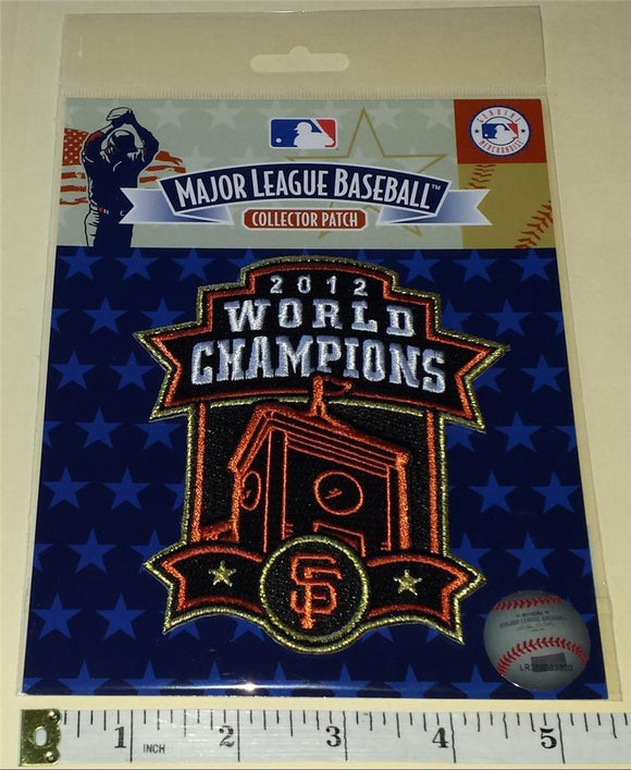 OFFICIAL 2012 SAN FRANCISCO GIANTS WORLD SERIES CHAMPIONS MLB BASEBALL PATCH MIP