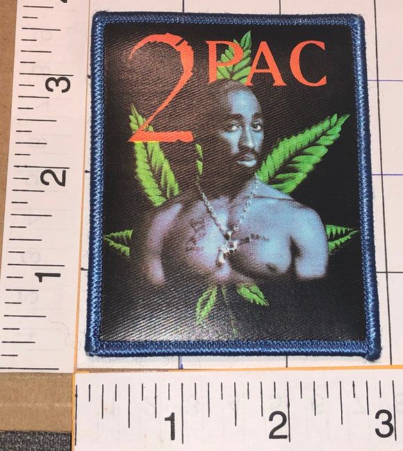1 TUPAC SHAKUR 2PAC SELF PORTRAIT LEAF RAP HIP HOP RAPPER MUSIC CREST PATCH