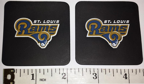 2 ST.LOUIS RAMS NFL FOOTBALL VINYL PATCH LOT