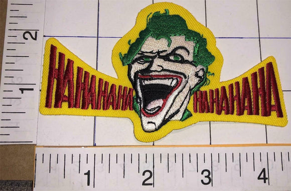 THE JOKER BATMAN ROBIN MOVIE DC COMICS IRON-ON PATCH