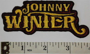 JOHNNY WINTER BLUES ROCK ARTIST CONCERT MUSIC crest emblem PATCH