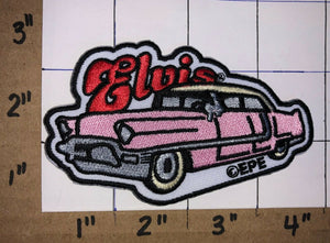 ELVIS PRESLEY PINK CADILLAC ROCK & ROLL MUSIC SINGER CREST EMBLEM PATCH