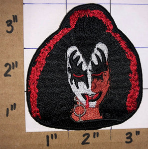 KISS GENE SIMMONS HARD ROCK MUSIC SINGER CREST EMBLEM PATCH