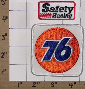 2 PHILLIPS 76 OIL GAS OFFICIAL FUEL OF NASCAR RACING NHRA CREST EMBLEM PATCH LOT