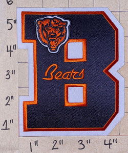 "CHICAGO BEARS LETTER B NFL FOOTBALL 5"" PATCH"
