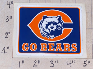 "CHICAGO BEARS STICKER GO BEARS NFL FOOTBALL 4"" STICKER"