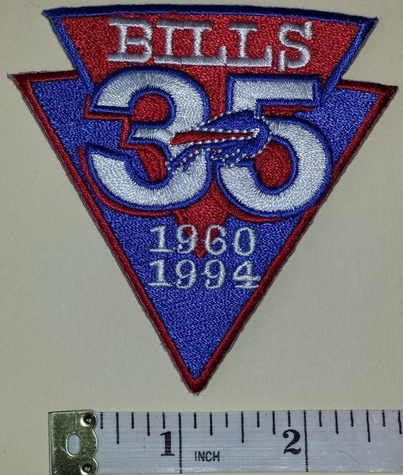 BUFFALO BILLS 35TH ANNIVERSARY NFL FOOTBALL PATCH