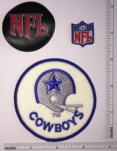 "DALLAS COWBOYS NFL FOOTBALL 3"" PATCH LOT"