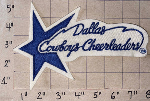 "1 DALLAS COWBOYS CHEERLEADERS 7"" NFL FOOTBALL PATCH"