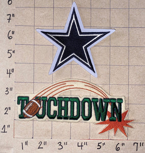2 DALLAS COWBOYS TOUCHDOWN NFL FOOTBALL PATCH LOT