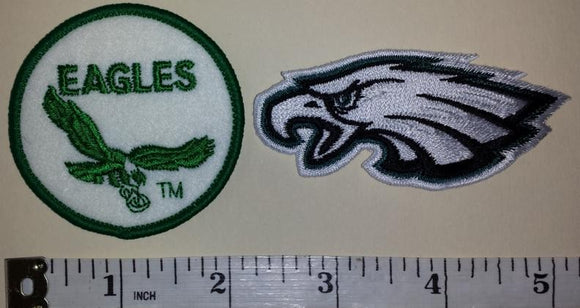 2 PHILADELPHIA EAGLES NFL FOOTBALL JERSEY PATCH LOT