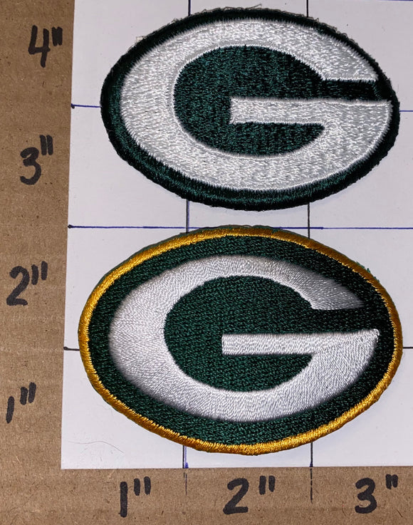 2 GREEN BAY PACKERS  NFL FOOTBALL PATCH LOT