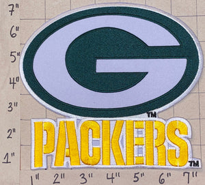 "1 HUGE 7"" GREEN BAY PACKERS NFL FOOTBALL PATCH"