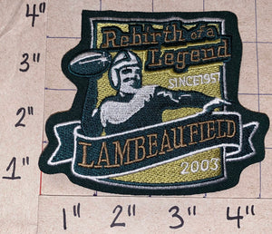GREEN BAY PACKERS LAMBEAU FIELD REBIRTH OF A LEGEND NFL FOOTBALL COMMEMORATE PATCH