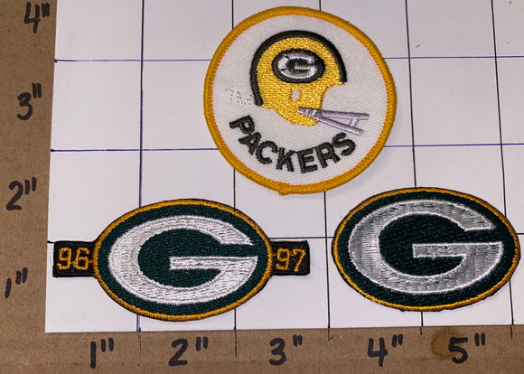 3 GREEN BAY PACKERS 96-97 BACK TO BACK SUPER BOWL CHAMPIONS NFL FOOTBALL PATCH LOT