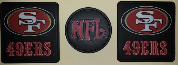 3 SAN FRANCISCO 49ERS NFL FOOTBALL VINYL PATCH LOT