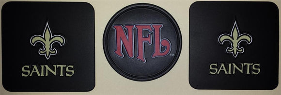 3 NEW ORLEANS SAINTS NFL FOOTBALL VINYL PATCH LOT