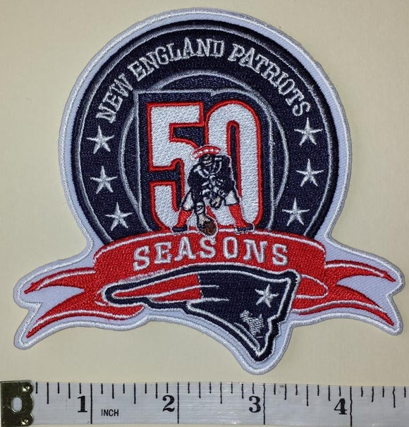 NEW ENGLAND PATRIOTS 50TH ANNIVERSARY NFL FOOTBALL PATCH