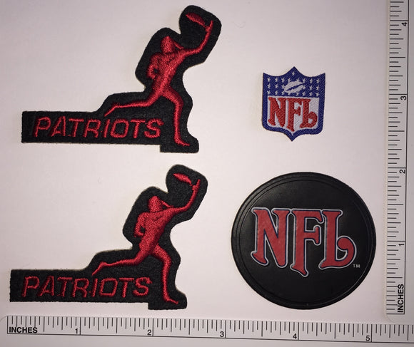 4 NEW ENGLAND PATRIOTS NFL FOOTBALL NAVY BLUE RECEIVER PLAYER PATCH LOT