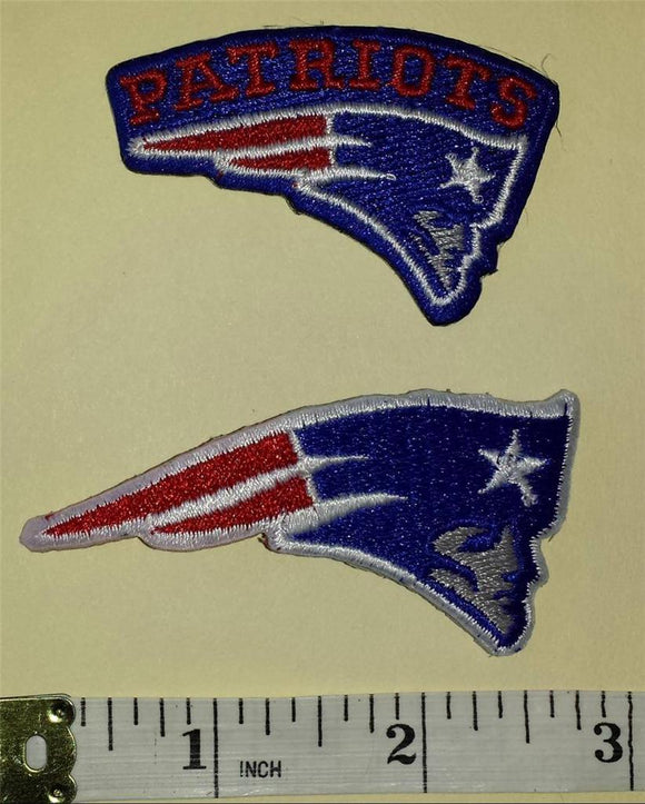2 NEW ENGLAND PATRIOTS NFL FOOTBALL PATCH LOT