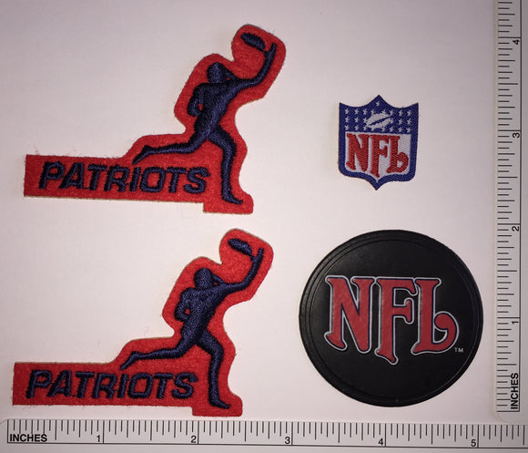 4 NEW ENGLAND PATRIOTS NFL FOOTBALL RED RECEIVER PLAYER PATCH LOT