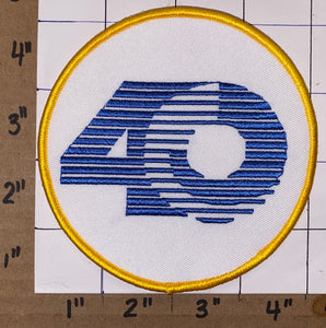 ST.LOUIS RAMS 40TH ANNIVERSARY NFL FOOTBALL PATCH