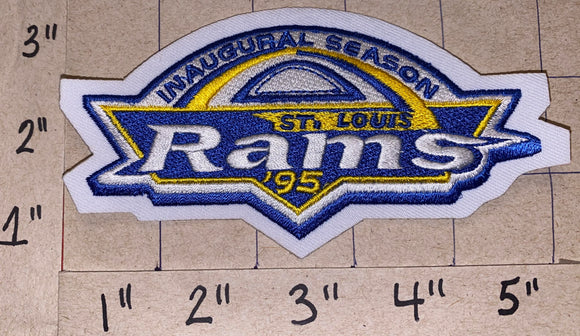 ST.LOUIS RAMS NFL FOOTBALL 1995 INAUGURAL SEASON COMMEMORATE PATCH