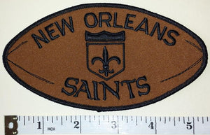 "1 RARE NEW ORLEANS SAINTS 5 1/2"" FOOTBALL SHAPED NFL FOOTBALL PATCH"