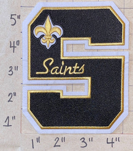"NEW ORLEANS SAINTS 5"" LETTER NFL FOOTBALL PATCH"