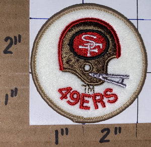 SAN FRANCISCO 49ERS 2 INCH CIRCLE NFL FOOTBALL PATCH