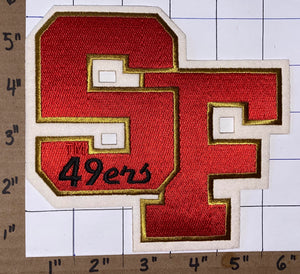 "SAN FRANCISCO 49ERS SF 5"" LETTER NFL FOOTBALL PATCH"