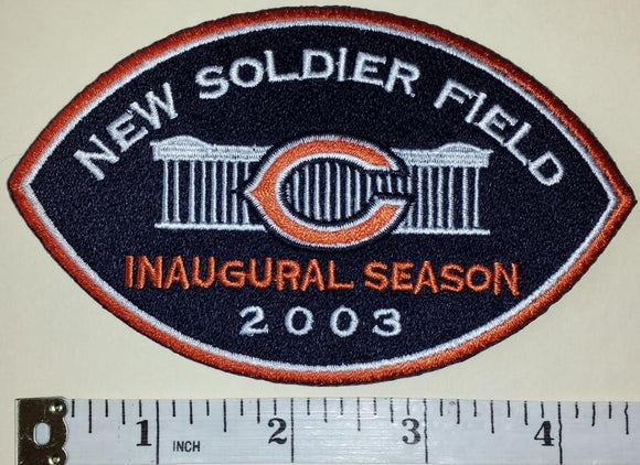 CHICAGO BEARS NFL FOOTBALL 2003 NEW SOLDIER FIELD INAUGURAL SEASON COMMEMORATE PATCH