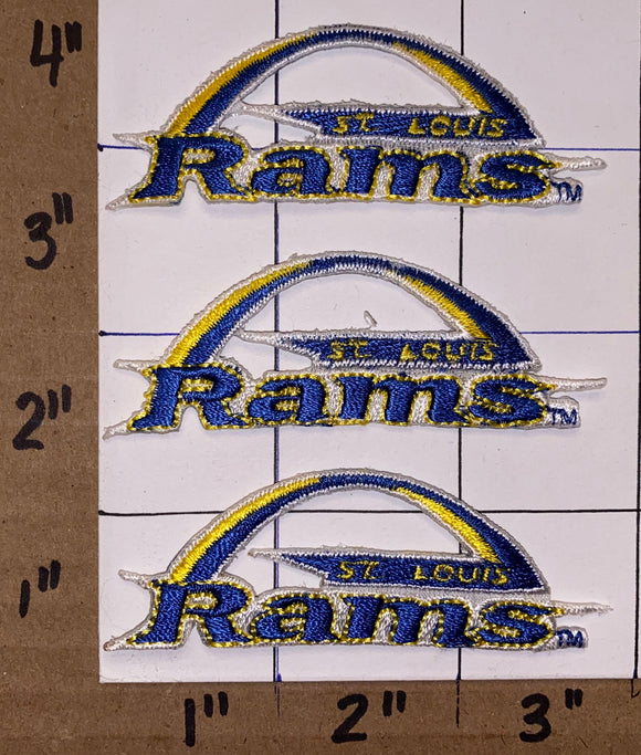 3 ST.LOUIS RAMS NFL FOOTBALL PATCH LOT