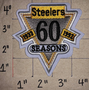 1 PITTSBURGH STEELERS 60TH ANNIVERSARY NFL FOOTBALL JERSEY PATCH