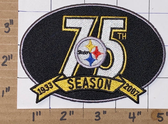 1 PITTSBURGH STEELERS 75TH ANNIVERSARY NFL FOOTBALL JERSEY PATCH