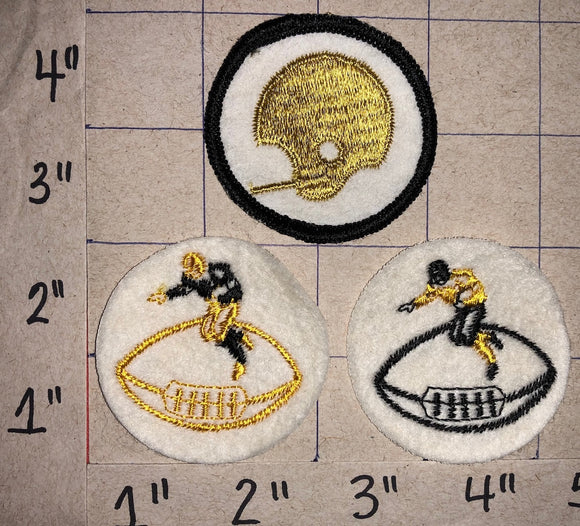 3 RARE VINTAGE PITTSBURGH STEELERS  NFL FOOTBALL PATCH LOT