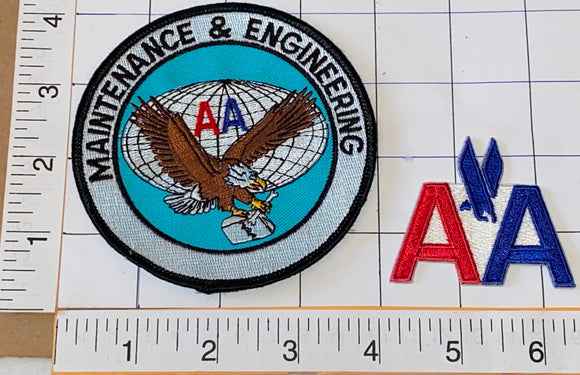 2 AMERICAN AIRLINES AVIATION AIRLINE AA MAINTENANCE & ENGINEERING PATCH LOT