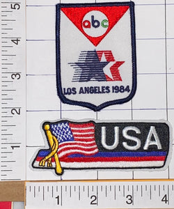 ABC 1984 SUMMER OLYMPICS LA TEAM USA LOS ANGELES XXIII OLYMPIAD USA PATCH LOT