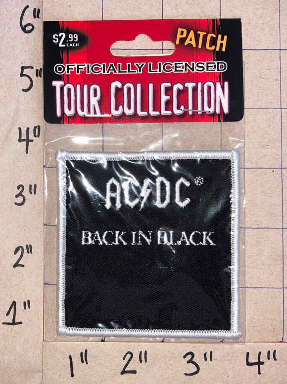 BACK IN BLACK ANGUS YOUNG ACDC AC/DC AUSTRALIAN HARD ROCK MUSIC BAND MIP PATCH