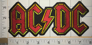 "ACDC AC/DC  ANGUS YOUNG ACDC AC/DC AUSTRALIAN HARD ROCK MUSIC BAND 8"" PATCH"