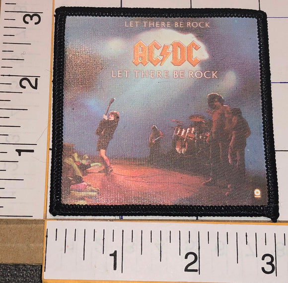 AC/DC ACDC LET THERE BE ROCK ANGUS YOUNG HARD ROCK MUSIC BAND ALBUM PATCH