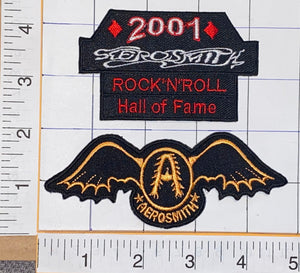 2001 AEROSMITH ROCK 'N' ROLL HALL OF FAME GET YOUR WINGS CREST PATCH LOT