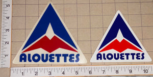 2 MONTREAL ALOUETTES DECALS CFL FOOTBALL AUTOMOBILE AUTO DECAL LOT
